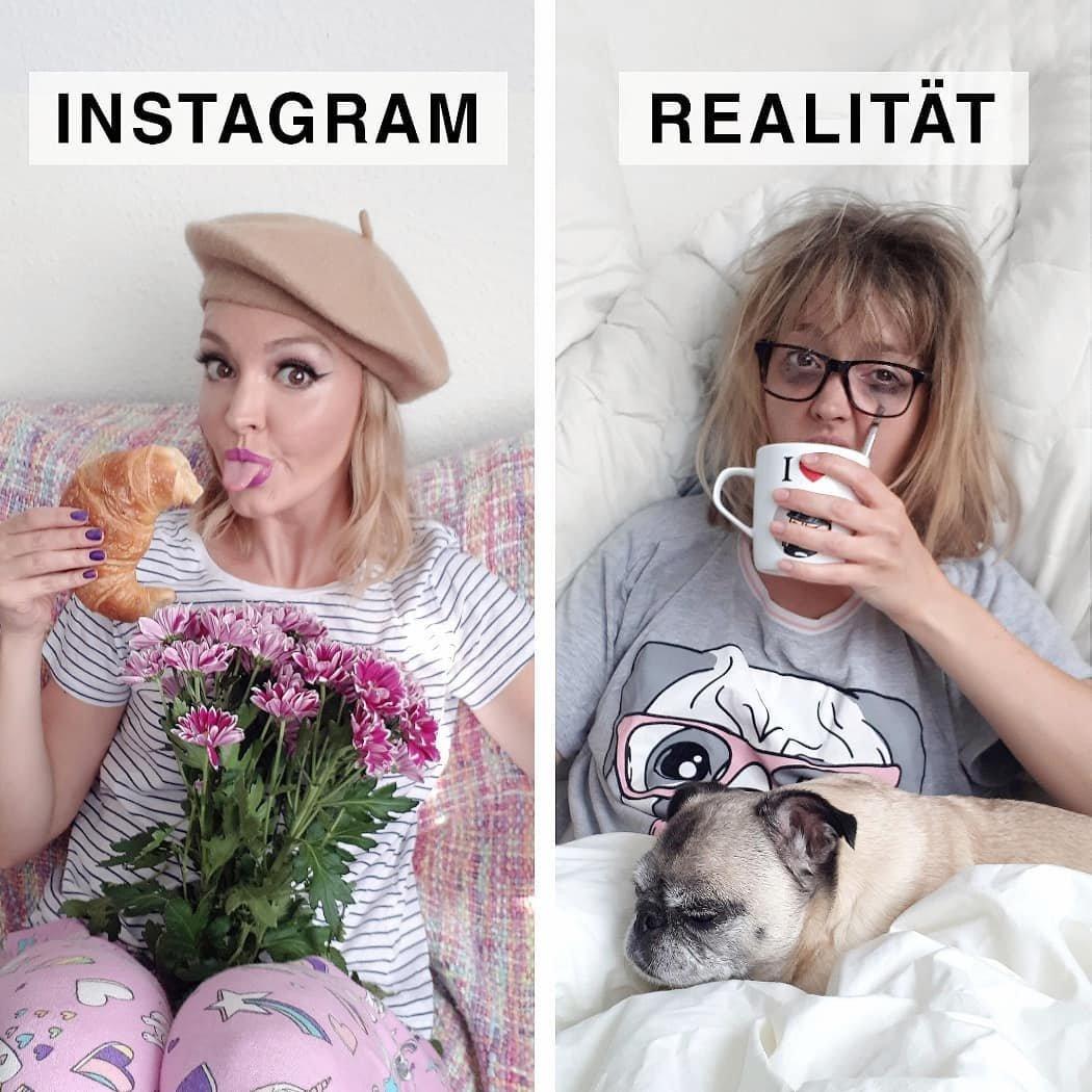 Девушка из Германии высмеивает пафосные снимки из Инстаграм