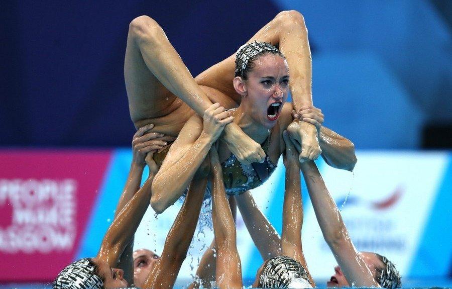 смешные картинки синхронного плавания встречается версия, что