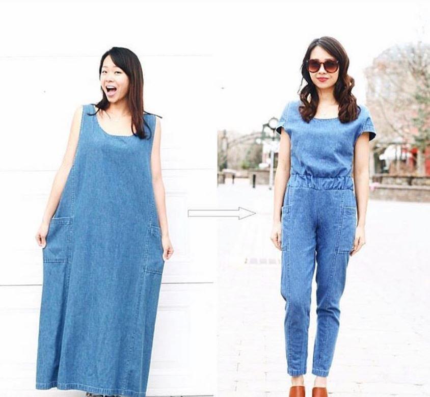 Она перешивает старые наряды так, что не отличить от дизайнерской одежды
