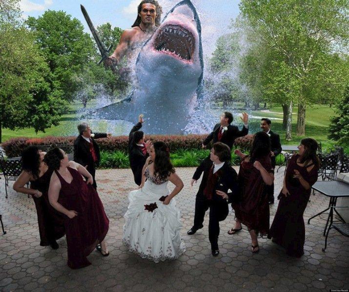 Свадебные фото в лучших традициях со спецэффектами