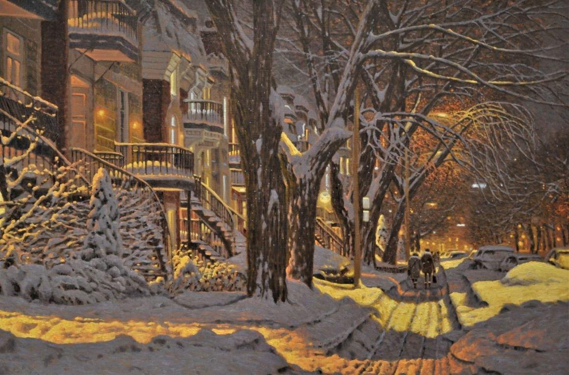 Художник из Канады рисует картины, новогодняя атмосфера которых согревает