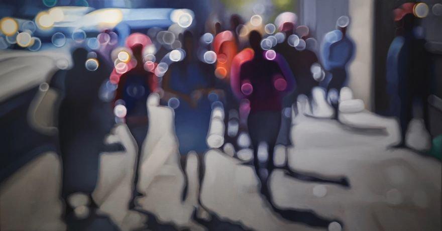 Художник рисует картины, показывая, как люди с плохим зрением видят этот мир