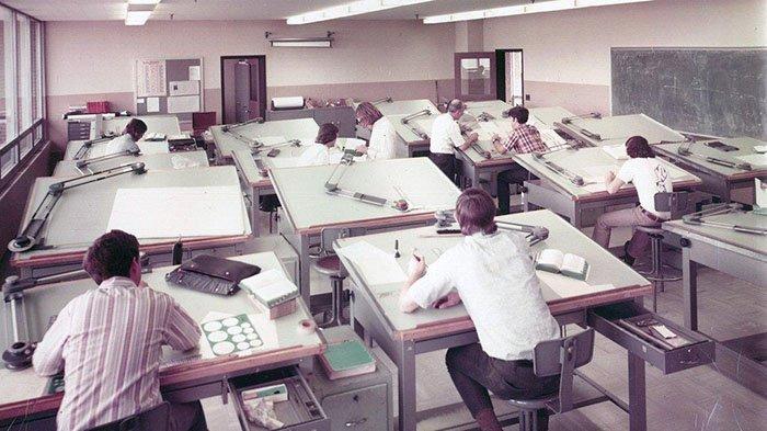18 старых снимков, демонстрирующих, как люди работали до появления AutoCAD