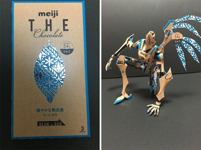 Японский мастер превращает упаковки продуктов в миниатюрные статуэтки впечатляющий красоты