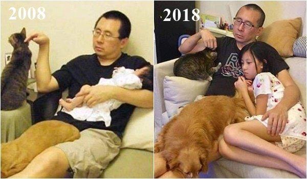 12 снимков спустя годы