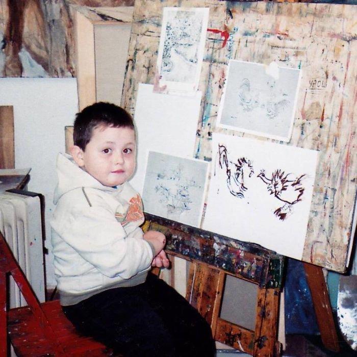 Он хотел быть художником с 2 лет, и вот что он нарисовал к 16-ти