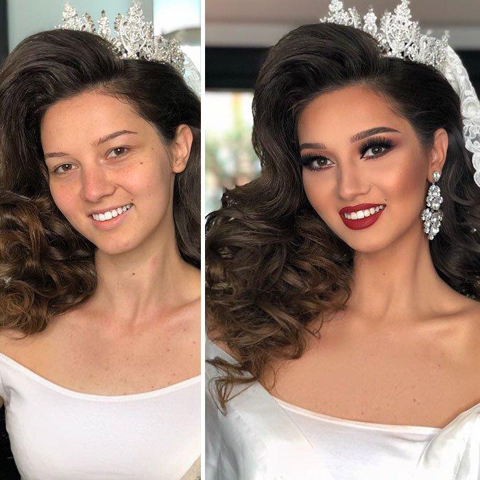 11 невест после свадебного макияжа