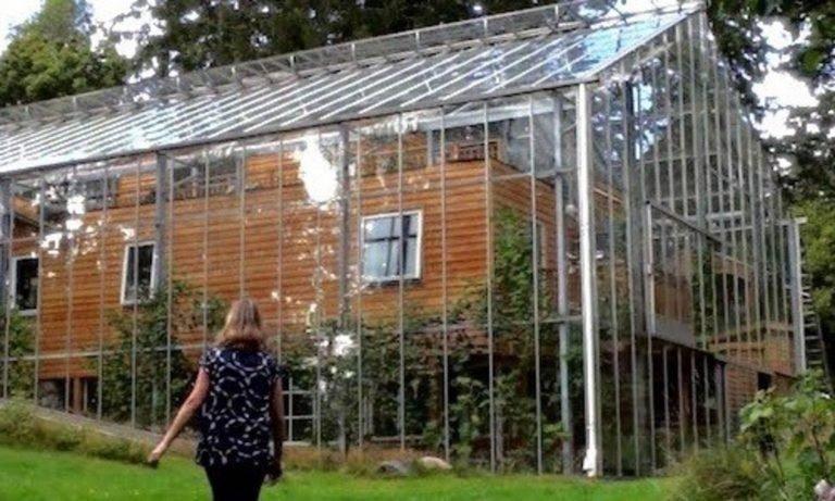 Шведская пара построила теплицу вокруг дома, чтобы быть в тепле и растить еду круглый год