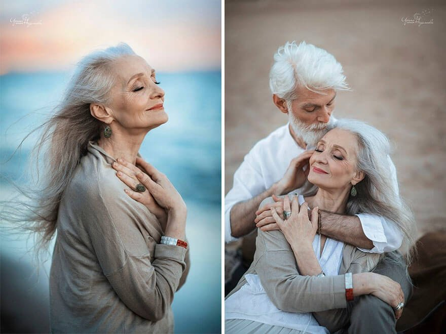 Трогательные фотографии пожилой пары, доказывают, что любовь не имеет возрастных ограничений