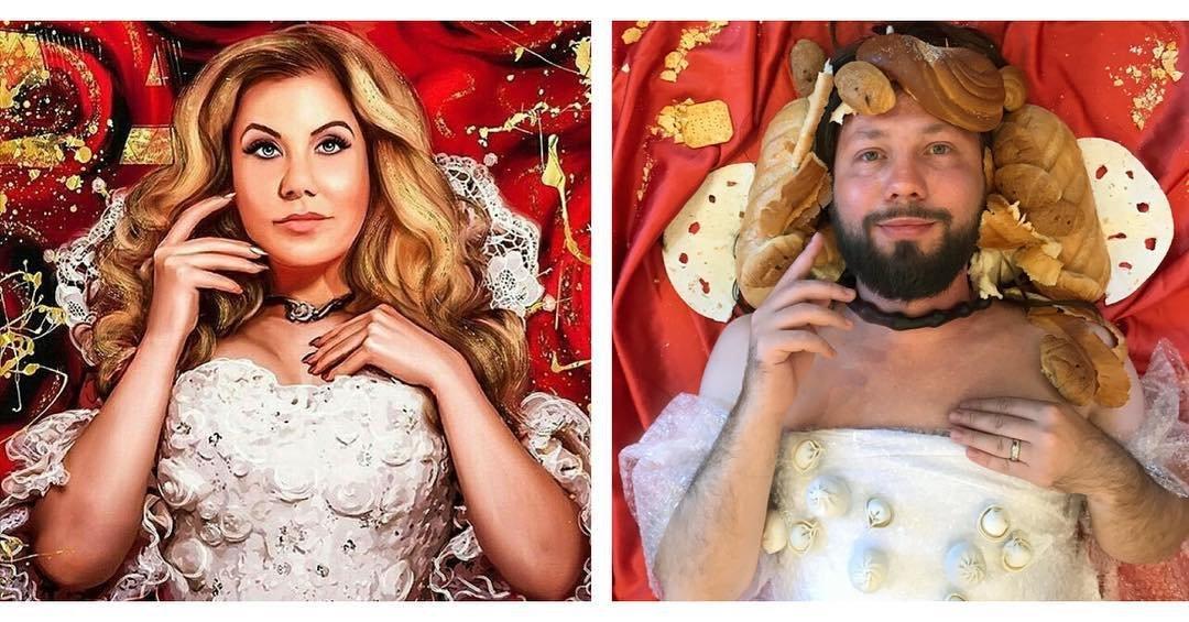 Российский пародист стал звездой Инстаграма, воссоздавая образы селебрити