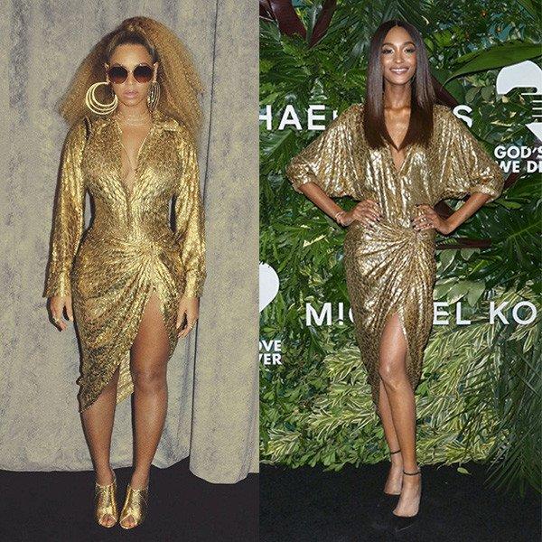 Как одинаковые платья выглядят на звездах с разными фигурами