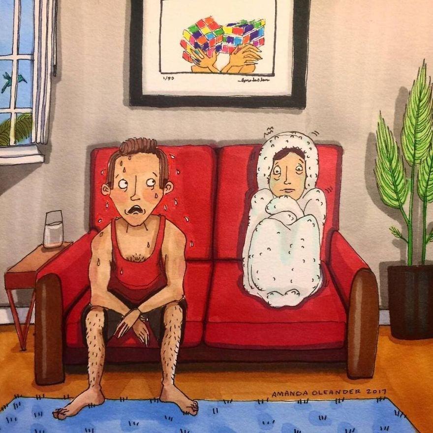 Правдивые иллюстрации показывают закадровые моменты в отношениях