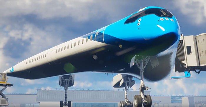 Разработанный студентом авиалайнер Flying-V, будет потреблять на 20% меньше топлива