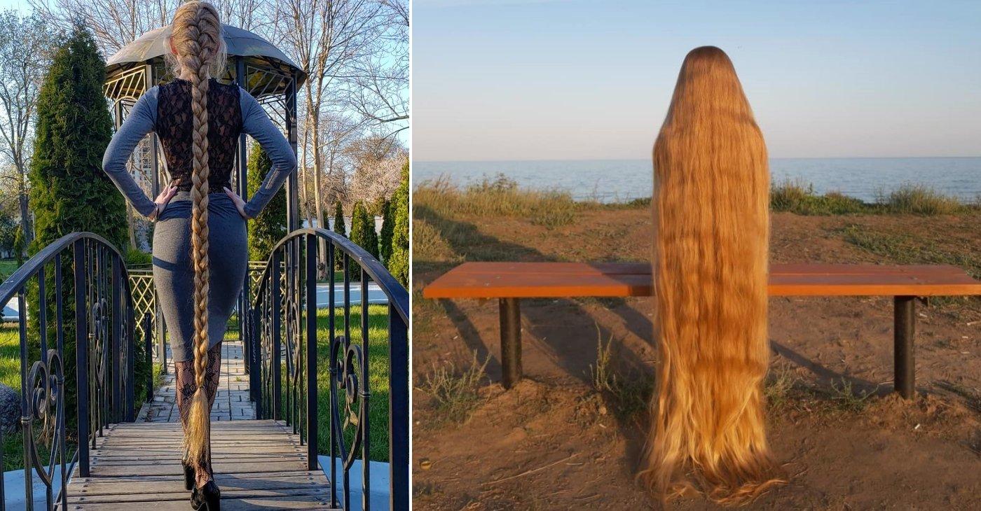 Обладательница волос длинною в 1.8 метра, рассказала о том, как это быть Рапунцель в нынешнем мире