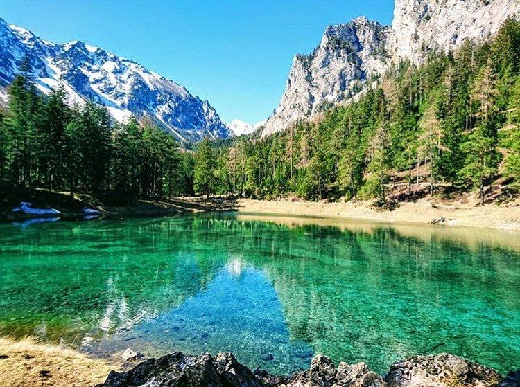Грюнер-Зе — уникальное озеро в Австрии
