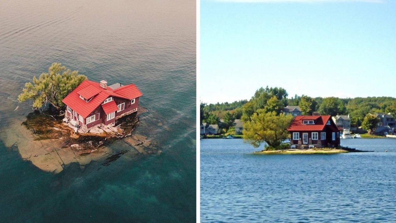 hub island — самый маленький населенный остров в мире, что вмещает один дом