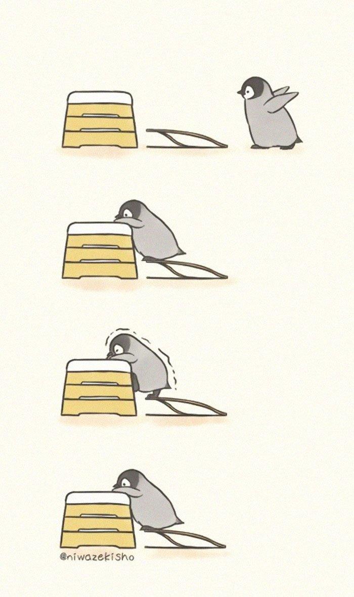 Художник показывает, как сложно быть маленьким пингвином: 20 комиксов