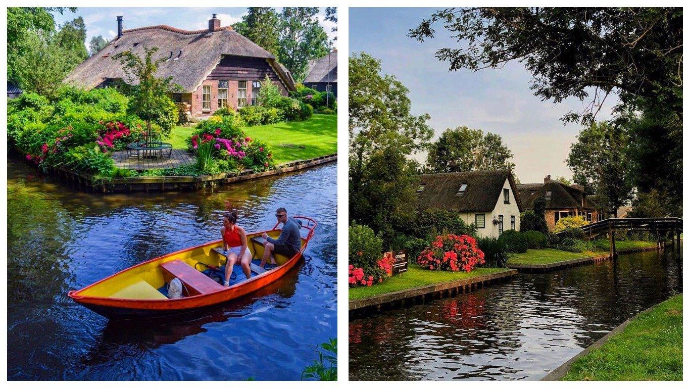 Гитхорн — сказочная деревня без дорог в Нидерландах