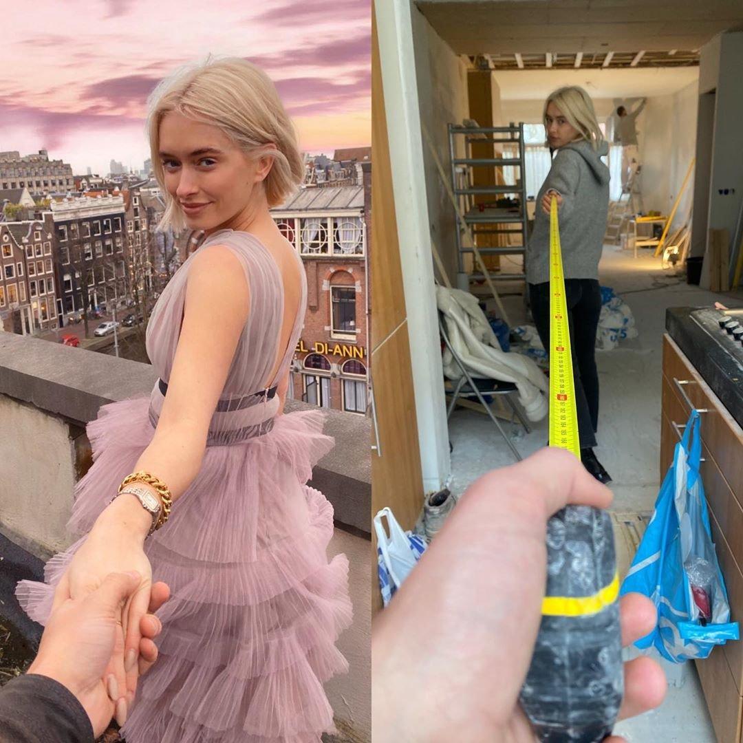 Девушка-блогер высмеивает идеальные кадры из Инстаграм, сравнивая их с реальностью